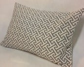 CLEARANCE pillow covers  Waverly Cross Section Gray and White