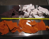Lot of Leather Scraps Pigskin Suede