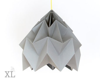 XL Moth origami lampshade grey