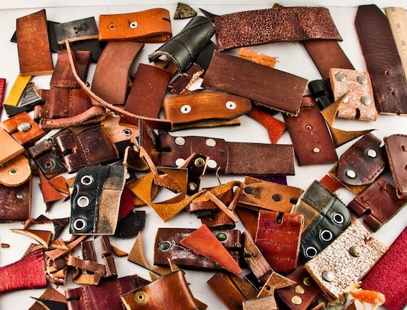 Leather Supplies Destash Scraps Leathercraft Jewelry Necklace Craft Supply Goodmerchants