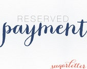 Payment:  RESERVED for Elyse & Brett