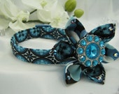 Fancy Dog Collar - Blue Italiano - Any Size - Item 319
