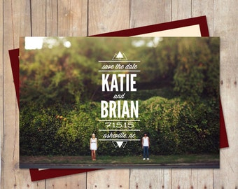 Save The Date Card, Save The Date Magnet, Save The Date Postcard, Save-The-Date - Triangles