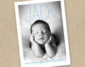 INSTANT DOWNLOAD - Birth Announcement Template Boy or Girl (Layered .PSD Template)