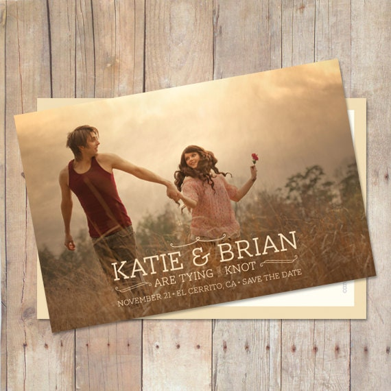 Wedding Save The Date Save The Date Postcard Save The Date