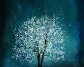 Spirit of Water  -- 11x14 -- tree art print.blue-Christmas gift