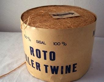 vintage yellow twine - roto baler twine - vintage hay baler