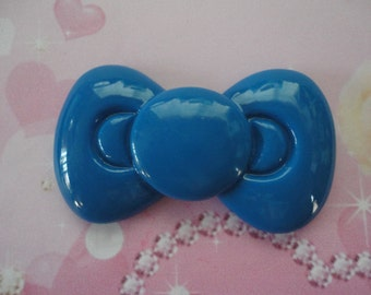 Kawaii BIG blue bow decoden deco diy cabochon---USA seller
