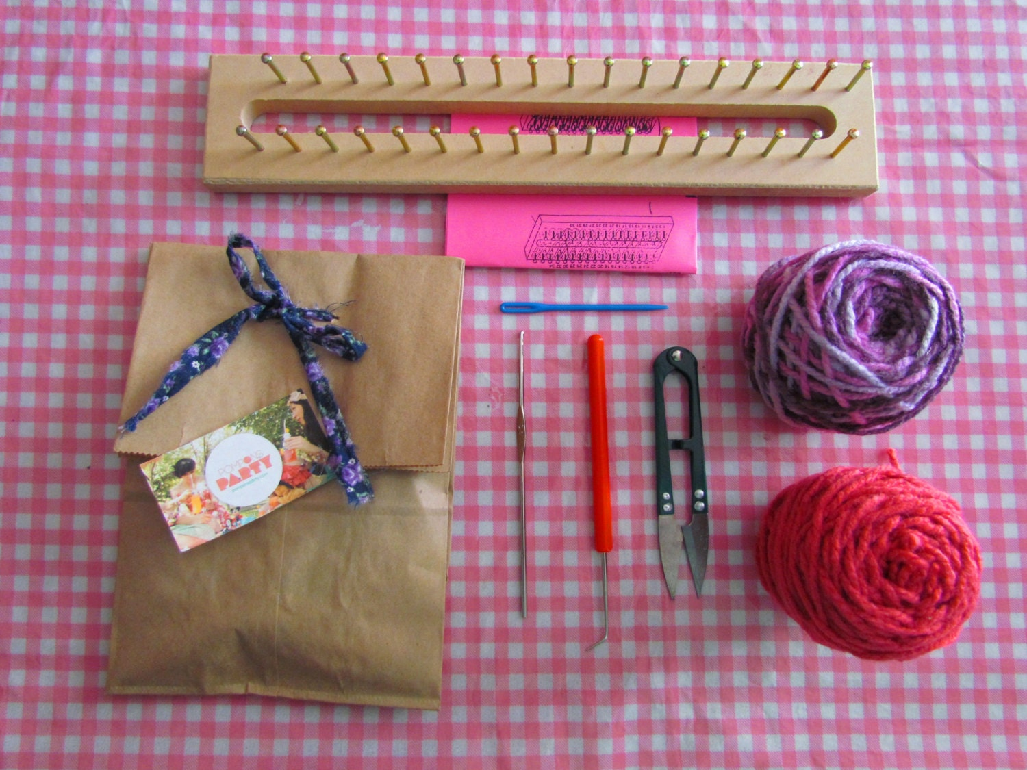 Knitting Loom Kit : Knitting loom kit by pomponsparty on etsy