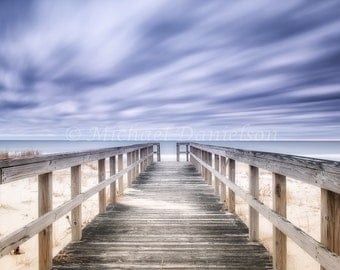 Beach Hampton Way Boardwalk Photograph Photo Print 8x10 Long Exposure