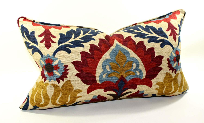 Waverly Decorative Throw Pillows : Waverly Santa Maria Gem Lumbar Pillow Cover by trendypillows