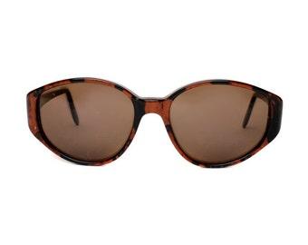 Black / Brown Vintage Sunglasses - Glenda mar marron