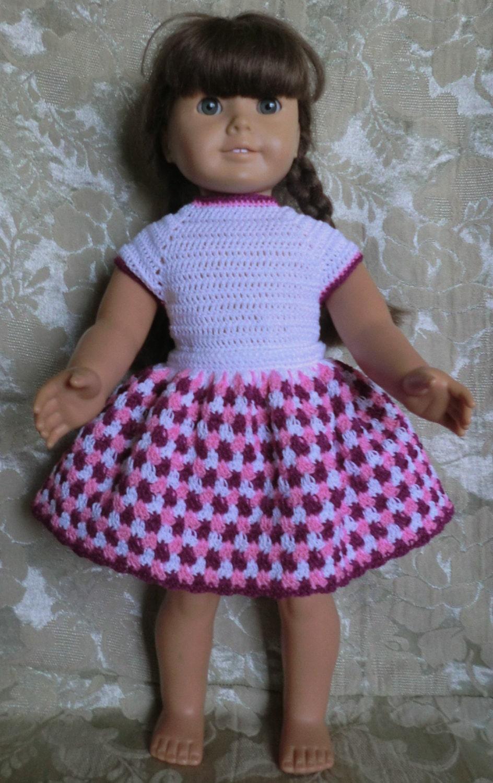 Easy Crochet Doll Skirt Pattern : 191 Skirt & Leotard Set Crochet Pattern for American Girl