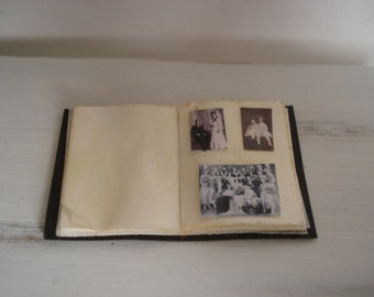 Miniature old photo album