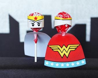 Superhero Collection. Caped Cutouts. DIGITAL DOWNLOAD. DiY Printable Design. Pinkadot Shop