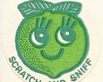 Vintage 1977 CTP Matte LIME Scratch and Sniff Sticker