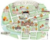 8x10 Otterbein University Campus Map