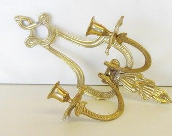Vintage Brass Sconce, Hollywood Regency
