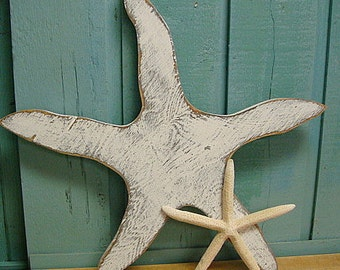 Starfish Large Sign Beach House Art Wall Decor Beach House Decor by CastawaysHall