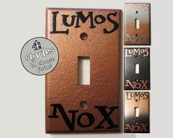 Lumos Nox Copper Standard Light Switch Plate - CHOOSE YOUR STYLE DeeplyDapper Spells