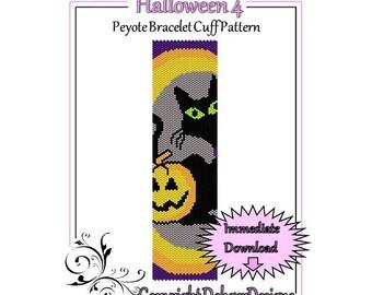 Bead Pattern Peyote(Bracelet Cuff)-Halloween 4