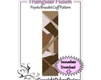 Bead Pattern Peyote(Bracelet Cuff)-Triangular Fusion