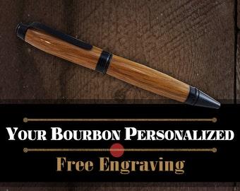 Authentic Jim Beam Barrel Pen - American Oak Wood Writing Pen - FREE Engraving
