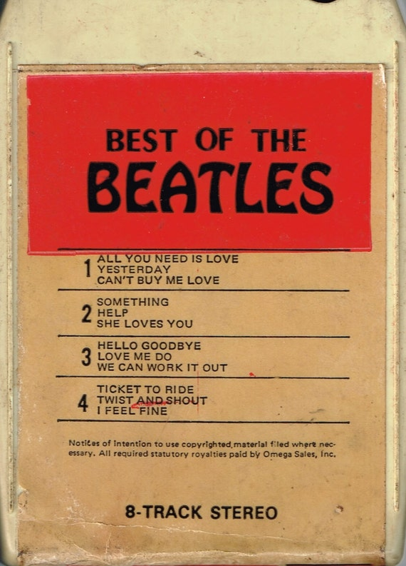 The Beatles Bootleg 8 Track Tape Rare