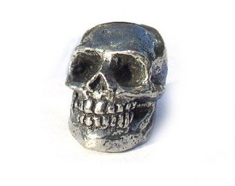 Green Girl Studios Smiling Skull Pewter Beads