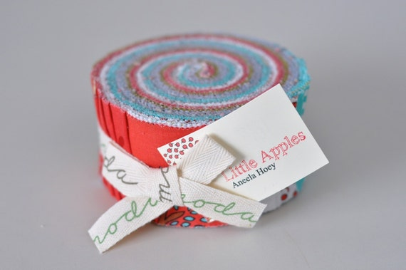 LAST Moda Aneela Hoey Little Apples COMPLETE (42) 2.5 Inch Strip Fabric Jelly Roll