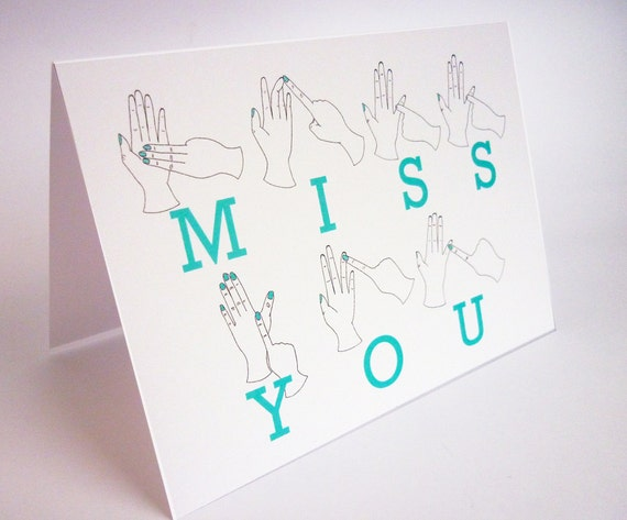 Items similar to Sign Language Miss You Card on Etsy