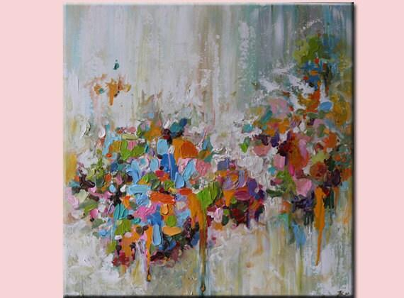 Original Abstract Pastel Shades Painting Original Painting