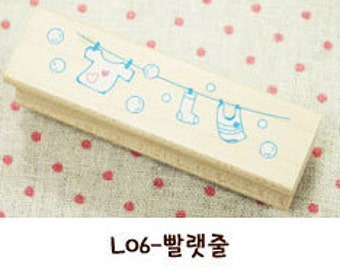 1 Pcs Korea DIY Wood Rubber Stamp-Lace Stamps L06