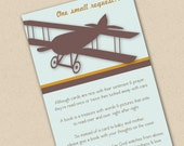 Vintage Airplane Book Request Card
