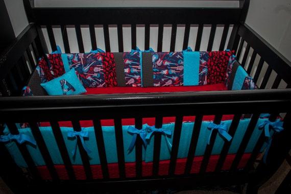 totally customizable boy guitar skull rocker rock and roll On rock n roll baby crib set