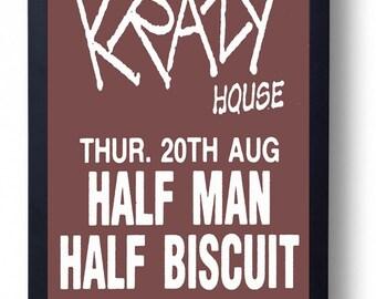 Half Man Half Biscuit Framed Gig Poster Print