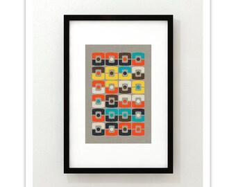 XEROS no.62 - Giclee Print - Modern Mid Century Modern Minimalist Abstract Desert Santa Fe Style