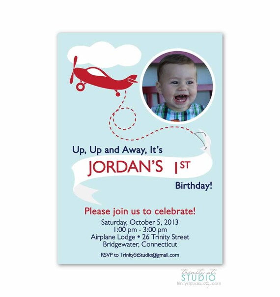 Items Similar To Airplane Birthday Invitation: Items Similar To Airplane Birthday Party Photo Invitation