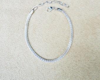 SALE -- Add a Bead 3mm Mesh Bracelet for European Charms
