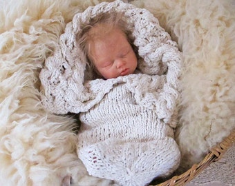 Heirloom Organic Cabled Baby Bunting