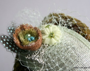 Hummingbird Nest Fascinator Hat Kit - Make your own fabulous whimsy.  You Pick The Color