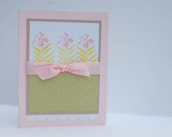 handmade floral birthday card pink flowers