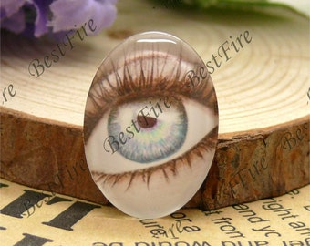 10x14mm,13x18mm,18x25mm,20x30mm,30x40mm Oval Glass Cabochons Cartoon lovely eye, jewelry Cabochons finding beads,cabochons--07