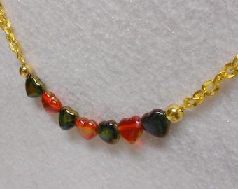 Handmade Valentine Heart Chain Necklace