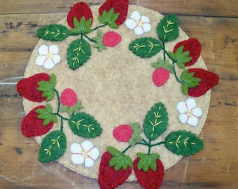 Strawberry Candle Mat