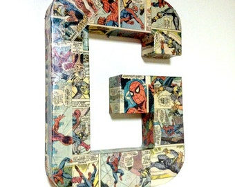 Large Comic Book Letter, Pop Art, Custom Made 12 inch