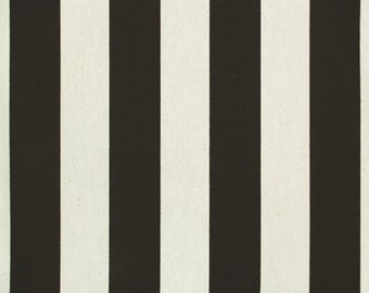"Custom Tablecloth Black and White Canopy Stripe 54"" x 72"""