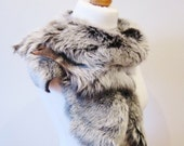 Organic Sheepskin Stole - Vintage Style Wrap - NOT Fur  - Scarf  - handmade by lovemimo on Etsy