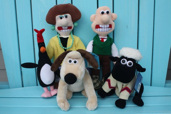 Wallace And Gromit Toys : Reserved for joanne wallace and gromit plush set