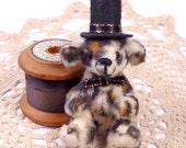 SPECIAL SALE Gentleman Leopard Miniature Artist bear, 7cm - 2 3/4 inches by VonneBears